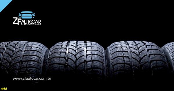 Os tipos de pneus.