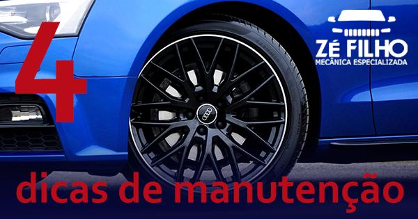4 Dicas sobre os cuidados dos pneus.